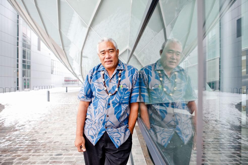aliki faipule foua toloa, regierungsoberhaut des atolls tokelau im südpazifik